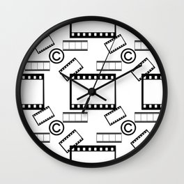 Film © pattern Wall Clock