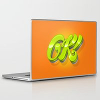 kim sy ok Laptop & iPad Skins featuring Ok by Roberlan Borges