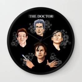 9th 10th 11th and 12th Doctor who iPhone 4 4s 5 5c 6 7, pillow case, mugs and tshirt Wall Clock