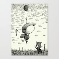 balloon Canvas Prints featuring 'Balloon' by Alex G Griffiths