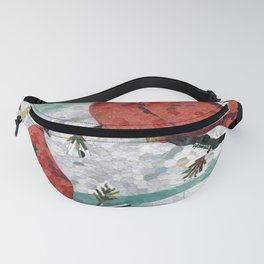Cardinals In Winter Fanny Pack