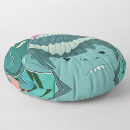 """Aquaboy"" by Kieran David Floor Pillow"