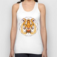 thundercats Tank Tops featuring Geometric Tiger by chobopop