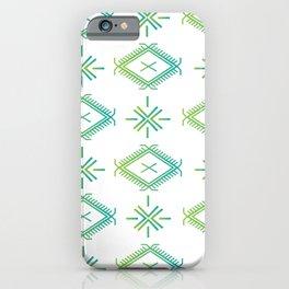 UrbanNesian Green & Turquoise Malu iPhone Case