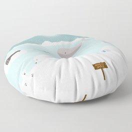 North pole Floor Pillow