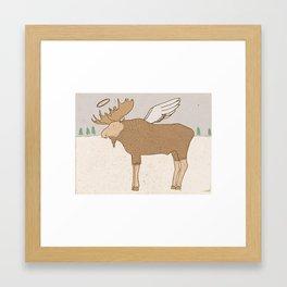 Holy Moose Framed Art Print