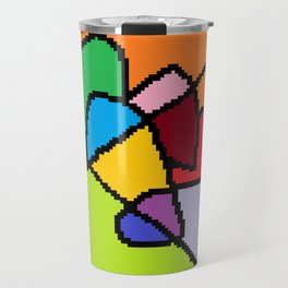 abstract heart art Travel Mug