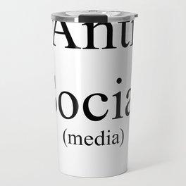 Anti Social Media Travel Mug