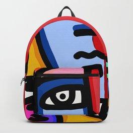 Metamorphosis Street Art Joyful Portrait Multicolor  Backpack