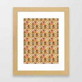 Retro Kitchen Shelves Framed Art Print