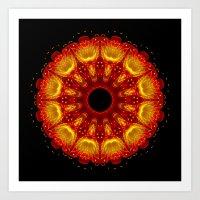 phoenix Art Prints featuring Phoenix by Mr. Pattern Man