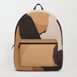 Minimal Abstract Art Sunset Girl 4 Backpack