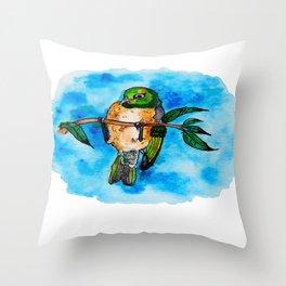 silvereye Throw Pillow
