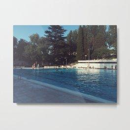 swimming pool Metal Print