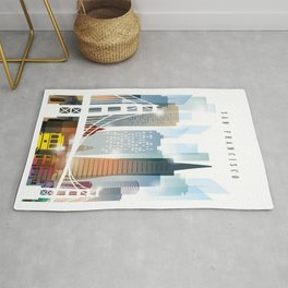 City of San Francisco painting Rug