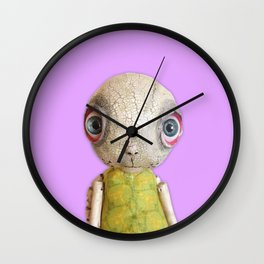 Sheldon The Turtle - Purple Wall Clock