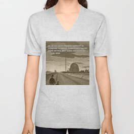 Science and Technology Quote Carl Sagan Unisex V-Neck