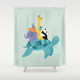 Travel Together Shower Curtain