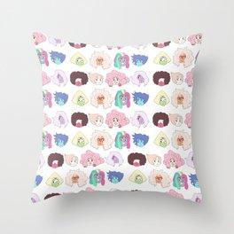 Crystal Gem Pattern Throw Pillow