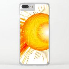 Sunstorm - Tormenta solar Clear iPhone Case
