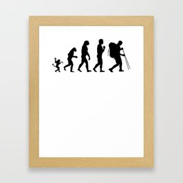 Hiking evolution, #Hiking Framed Art Print