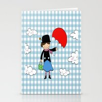 mary poppins Stationery Cards featuring Mary Poppins by EnelBosqueEncantado