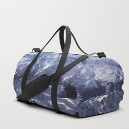 White mountains with snow winter nature Duffle Bag