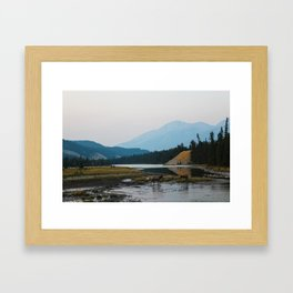 Dreamy Elk Sunset Framed Art Print