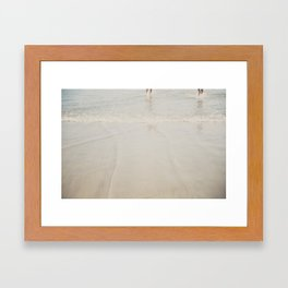 playing in the waves ... Framed Art Print
