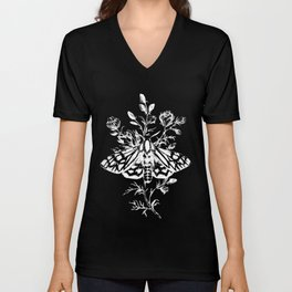 butterfly black Unisex V-Neck