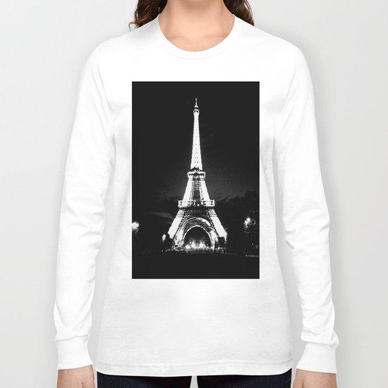 Paris Black & White Long Sleeve T-shirt