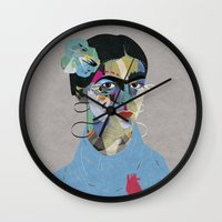 frida Wall Clocks featuring Frida by Zaneta Antosik