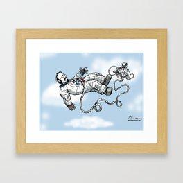 Floating or Falling Framed Art Print