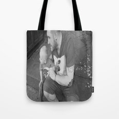 lou and daddy Tote Bag