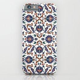 Iznik Pattern Red Blue White iPhone Case