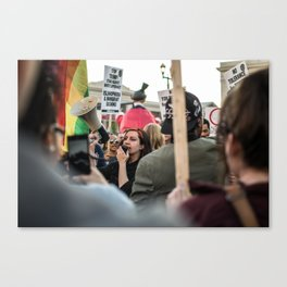 Trump Campaign Protests Canvas Print