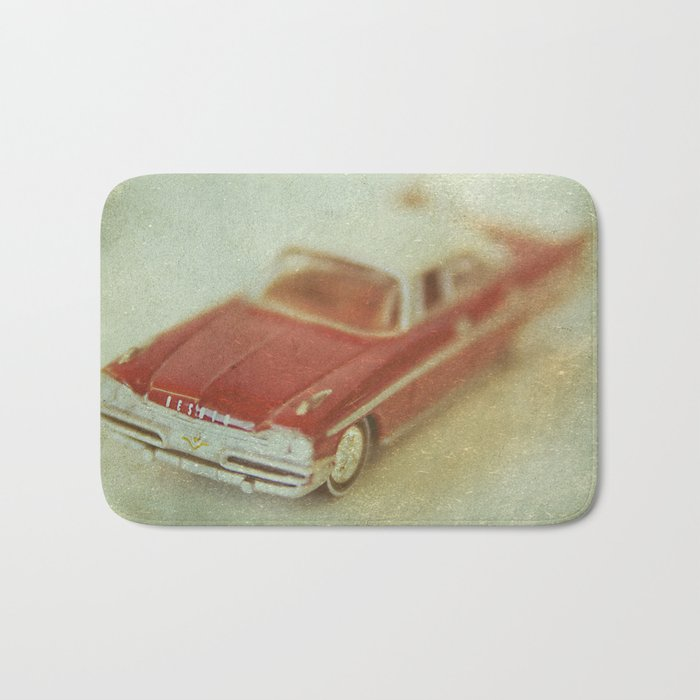 Vintage Red De Soto  Bath Mat