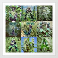 marijuana Art Prints featuring Marijuana Collage by Beautiful Buds 420