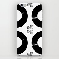 records iPhone & iPod Skins featuring Records by Derek Delacroix