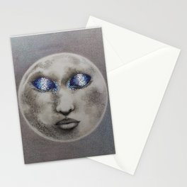 Sleeping Moon Print Stationery Cards