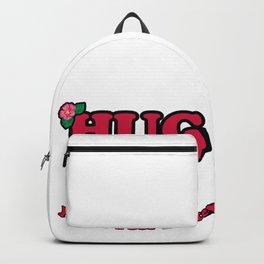 Hug me hugging hawaii summer red love gift Backpack