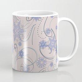 Whirly Snowflakes beige  Coffee Mug