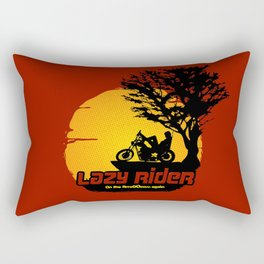 Lazy Rider Rectangular Pillow
