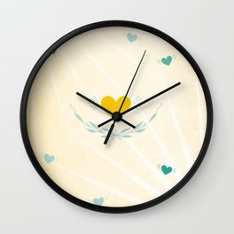 One sees clearly only with the heart Wall Clock