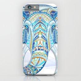 Blue Ethnic Elephant iPhone Case