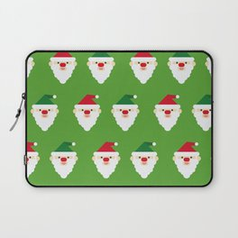 Christmas Santa Clause Wallpaper Christmas Pattern Laptop Sleeve