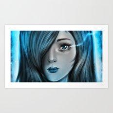 Blue Tear Art Print