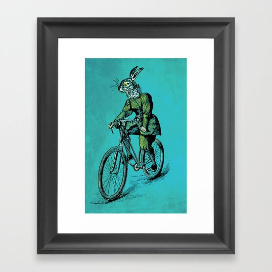 The Bicycle Bunny Framed Art Print