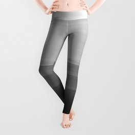 Touching Black Gray White Watercolor Abstract #4 #painting #decor #art #society6 Leggings