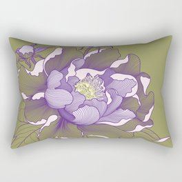 Peony flower Rectangular Pillow